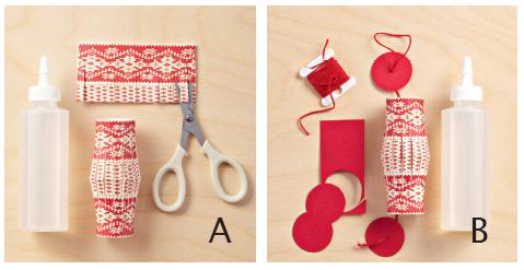圣诞节海绵纸剪贴画